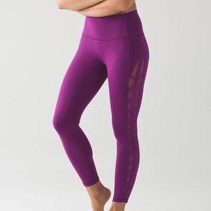 Lululemon Full Length Purple Crisscross Leggings